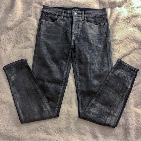 Ralph Lauren Denim - NWOT RALPH LAUREN Silver Metallic Coated Jeans